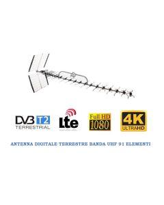 Antenna digitale terrestre Banda UHF a 91 elementi CH 21-69