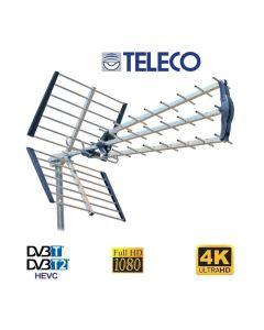 Antenna digitale terrestre Banda UHF a 45 elementi CH 21-60 FULL HD Alto Guadagno TELECO