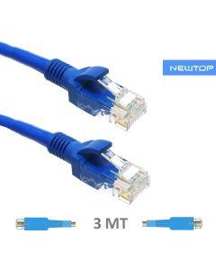 Cavo di rete 3 Mt CAT 6 NEWTOP