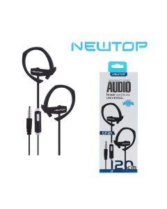 Cuffie auricolari con microfono incorporato CF21 NEWTOP - NERO