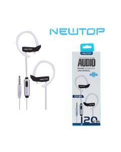 Cuffie auricolari con microfono incorporato CF21 NEWTOP - BIANCO