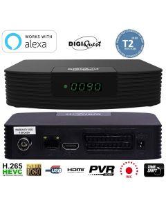 Decoder Digitale Terrestre DIGIQUEST VOICE DVB-T2 con controllo vocale ALEXA