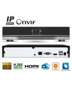 NVR Digitale IP ONVIF 8 Canali FULL HD con funzione Cloud