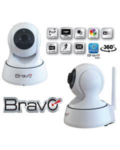 Telecamera videosorveglianza 360° IP WIFI 1.0 Megapixel 720P HD per Interno - MOD. SMARTY
