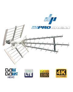 Antenna digitale terrestre YAGI Banda UHF a 31 elementi CH 21-60 FULL HD alto guadagno DIPROGRESS